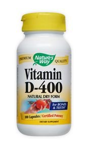 400 Dry Caps - Nature'S Way Dry Vitamin D 400 Iu 100 Cap