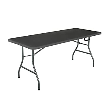 Cosco Products Centerfold Folding Table, 6-Feet, Black