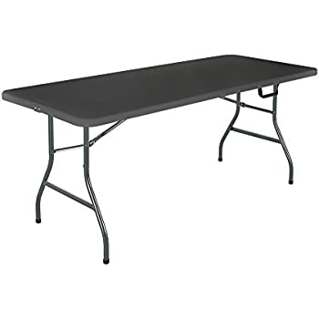 folding dining table and chairs set white square walmart plastic deluxe foot fold half blow molded black