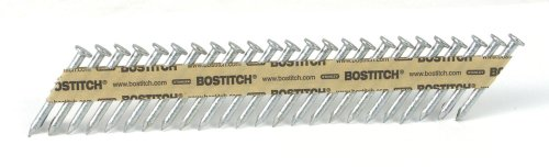 Strapshot Metal Connector - BOSTITCH PT-MC13115-1M 1 1/2-Inch x .131 Paper Tape Collated Metal Connector Nails, 1000-Qty.