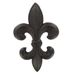 Good Aunt Chrisu0027 Products   Dark Brown Cast Iron Fleur De Lis Wall Decor    Primitive Heavy Cast Iron   Wall Hung With Loop Hook On Back   Indoor Or  Outdoor Use Part 27