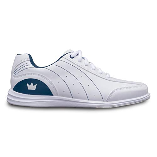 (Brunswick Bowling Products Ladies Mystic Bowling Shoes- B US, White/Navy,)