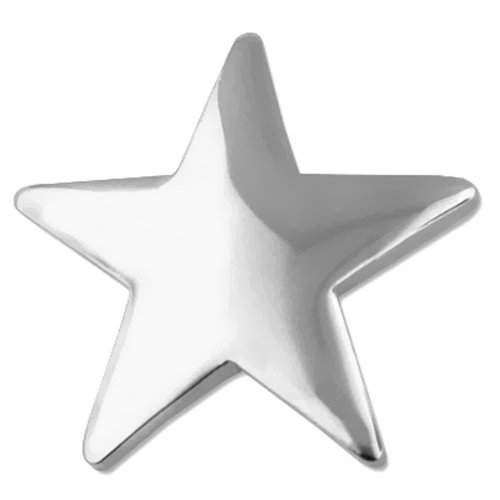 PinMart's Classic Shiny Silver Star Lapel Pin by PinMart