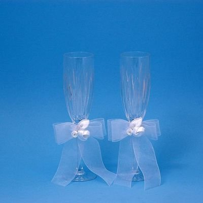 Beverly Clark 20Q Amour Wedding Toasting Flutes in White