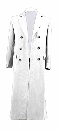 YANGGO Dr Men's Colorful Fashion Long Trench Coat Costume (Men X-Large, White) by YANGGO (Image #1)