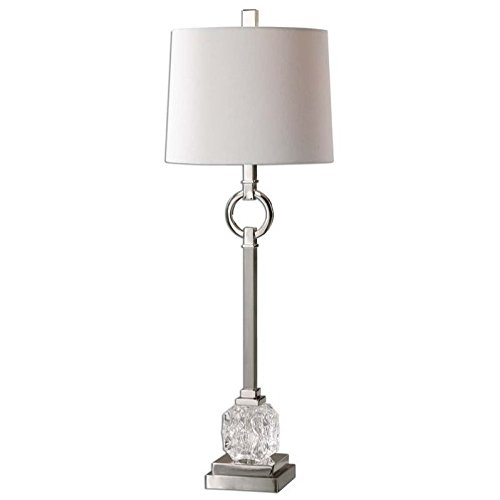 Uttermost 29199-1 Bordolano Polished Nickel Buffet Lamp David Contemporary Table Lamp