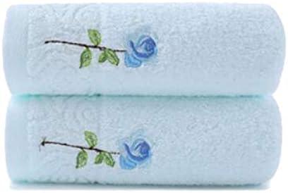 CQIANG タオル、綿タオル、強力吸収タオル、ホワイト/ブルーマルチカラーオプション76 * 34 Cm (Color : Multi-colored, Design : F)