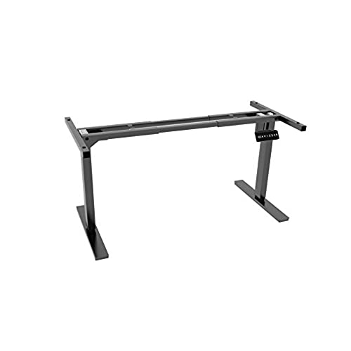 Ergo Elements Adjustable Height Standing Desk With Electric Programmable  Button Base, Black