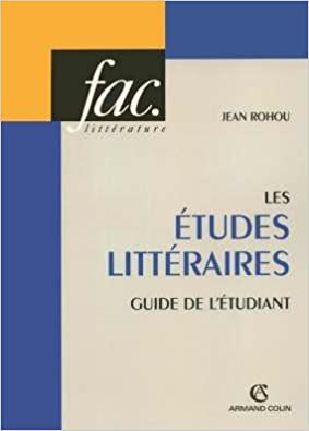 Livres Les études littéraires : Guide de l'étudiant pdf, epub ebook