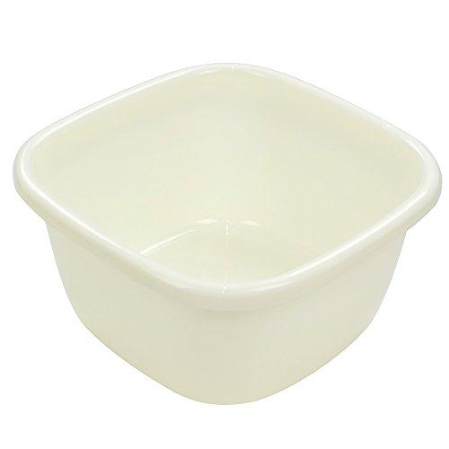 (Ggbin Plastic Wash Basin, Large Plastic Tubs, Cream, 18 Quart)