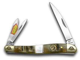 FROST FAMILY 40th Anniversary Ram Horn Mother Of Pearl 1/600 Wharncliffe Whittler Pocket (Whittler Pearl)