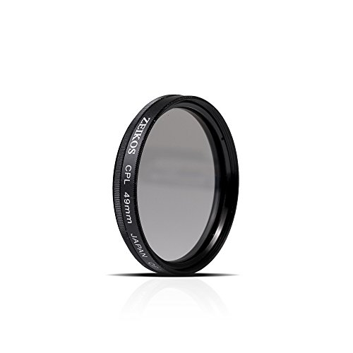 Zeikos 49mm CPL Circular Polarizer Multi-Coated Glass Filter w/ Rotating Mount For Canon EF 50mm f/1.8 STM, Pentax 100mm f/2.8, Sony 50mm f/1.8 & Sony Alpha SEL1855 E-mount 18-55mm Lens