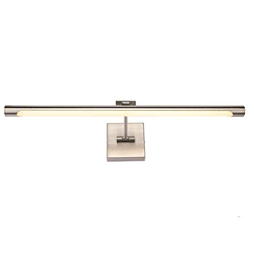 LED Picture Lights Fixtures, Joosenhouse Modern Artwork Photos Metal Accent Spot Lighting with Swing Arm Brushed Nickel Finish, Warm White 3000K, 24.4 inches 14W
