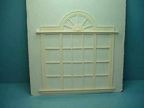 DolH Miniature Fantop Window - Handcast #W2 Poly-Resin Unpainted (W2 Window)