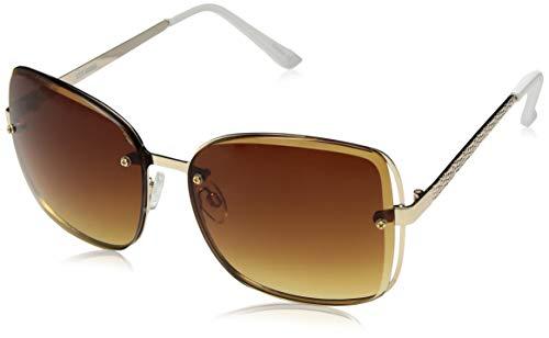 (Steve Madden Women's Sm473170 Square Sunglasses, Gold, 60 mm)
