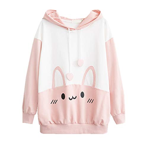 Used, Bunny Hoodie Kawaii Print Loose Casual Pullover Hoodie for sale  Delivered anywhere in USA