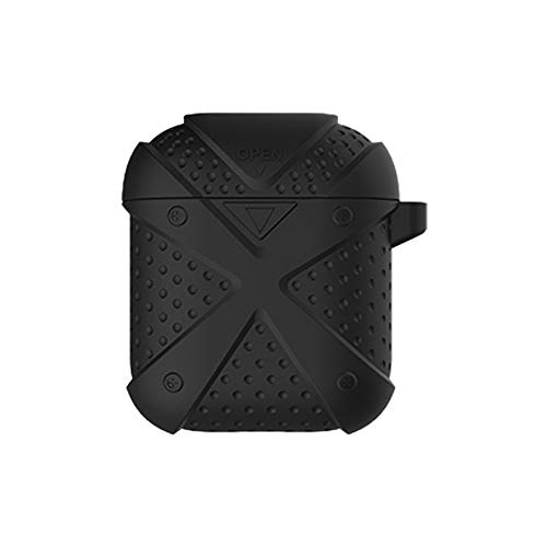 DEESEE(TM) NewX Soft Silicone Shock Proof Protective Cover Case For Apple AirPods Earphones (Black) -