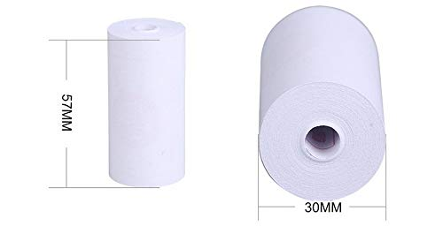 Zamtac 500pcs Thermal Printing Paper 57 x 30mm Bill Receipt Papers Accessories by GIMAX (Image #1)