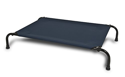 Aspen Pet Elevated Pet Bed, 43-Inch by 32-Inch, Large, Blue