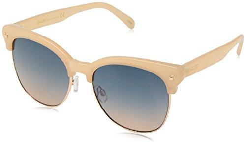Nanette By Nanette Lepore Women's Nn225 Ndrgd Square Sunglasses, Nude/Rose Gold, 55 Mm