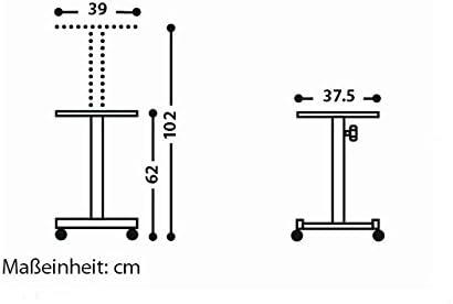 Medium Chariot de projection mobile Réglable en hauteur (Import Allemagne)