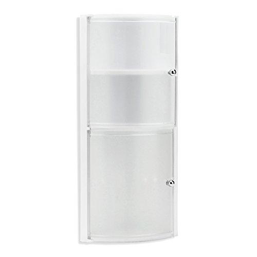 tatay 4434001 mobile da bagno ad angolo con 2 ante in plastica 285 x 18 x 625 cm colore ghiaccio amazonit casa e cucina