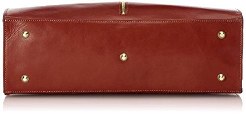 Marron 100 femme CTM Made Sac in véritable 38x27x12cm cuir classique Marrone Italy xaOpq4