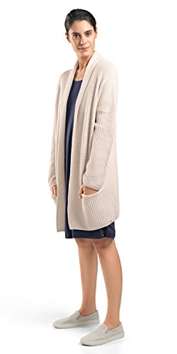 HANRO Women's Knits Long Sleeve Cardigan, Ivory Melange Medium