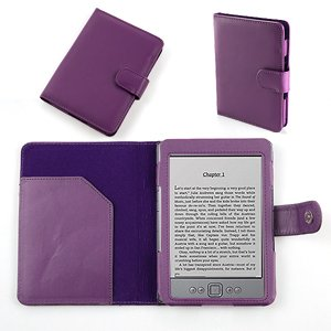 Funda Case a Medida de Cuero sintético (PU) para AMAZON KINDLE 4 ...