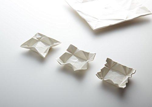 Handgefertigte Origami Dipschale aus Porzellan