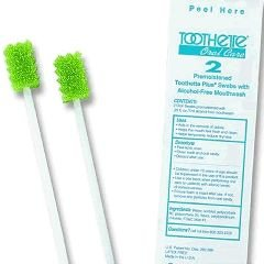 Toothette Plus Oral Swabs with Mouth Refresh Solution - - Case of 200 by Sage