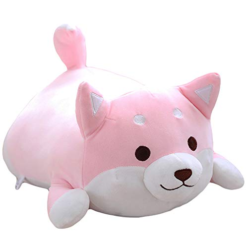 elfishgo Corgi Dog Plush Toys Creative Corgi Dog Butt Shaped Plush Soft Pillows 36cm (Pink)