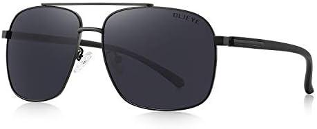 OLIEYE Men HD Polarized Driving Sunglasses for Men-Classic Square Sunglasses