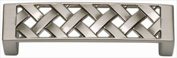 Atlas Homewares Lattice - Atlas Homewares 310-BRN 3.3-Inch Lattice Pull from the Lattice Collection, Brushed Nickel