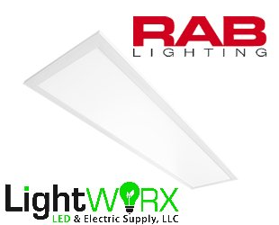 1x4' RAB LED Drop Ceiling Light Panel - EDGE-LIT Lighting | 30W | 3419 Lumens | 4000K - Dimmable & Easy Installation EZPAN1X4-30N/D10
