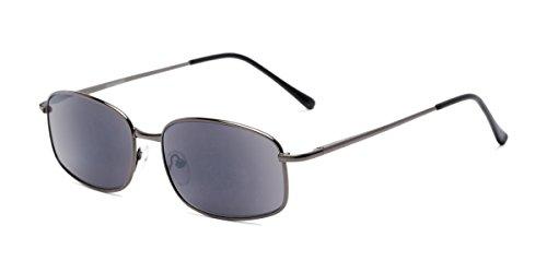 - Readers.com | The Randy Reading Sunglasses +2.50 Glossy Grey with Smoke Rectangle Stylish Men's Full Frame