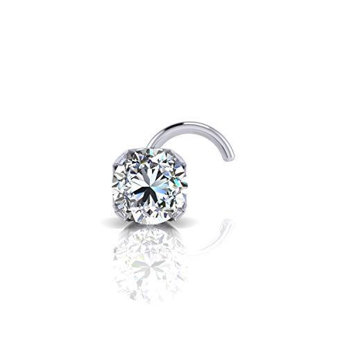(1.5mm 0.015 Carat Diamond Stud Nose Ring In 14K White Gold)