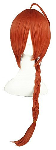 Cosplay SF period wig wig set (red (pigtails)) ()