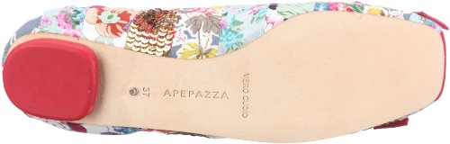 Apepazza Cindy Multi Patch, Women's Ballet Flat Rot (Multi/Rosso)