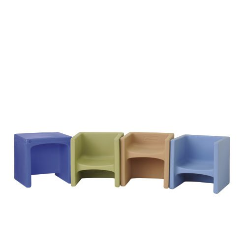 Natural Shades Cube Chairs/4-Se by Children's Factory