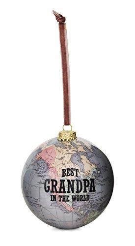 (Pavilion Gift Company 61018 Grandpa Globe Ornament, 3-3/4