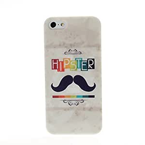 LCJ The Hipster Moustache Pattern Plastic Hard Case for iPhone 5/5S