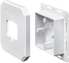 Arlington Industries 8091F Siding Box Kits, For Fixtures and GFI's, White, 25-Pack