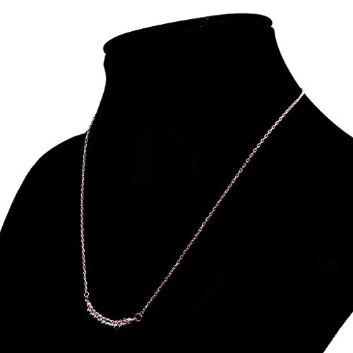 Women Long Chain Pendant Necklace Crystal Zircon Embeded for Birthday Gifts