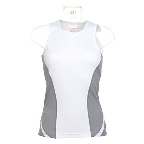 GameGear Cooltex Womens Running Fitness Vest Top White/Grey