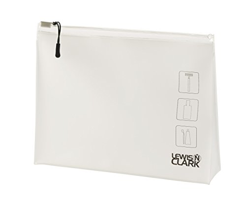 Lewis Clark Toiletry Pouch White