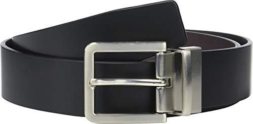 Calvin Klein Men's 35mm Reversible Smooth Leather Belt Black/Chocolate 44