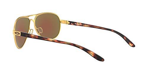 Oakley Women's Oo4079 Feedback Metal Aviator Sunglasses