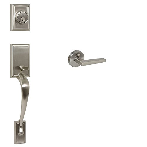 Dummy Soho Handleset (EZ-Set 240612 Philadelphia Hardware Kellington Dummy Handleset with SoHo Lever Round Rosette, Satin Nickel)