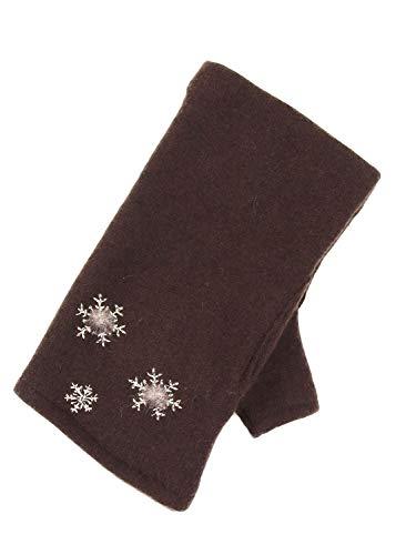 注入する受け入れる失速婦人指きり防寒手袋 雪の結晶 617